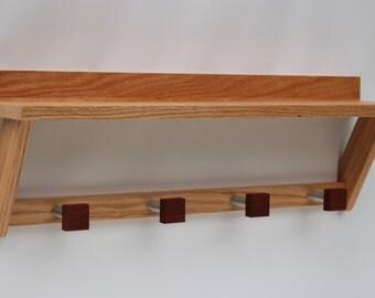 Shelf with Coat Hooks / Coat Hook Shelf / Coat Rack / Shelf / Entryway Organizer by Recovered Design