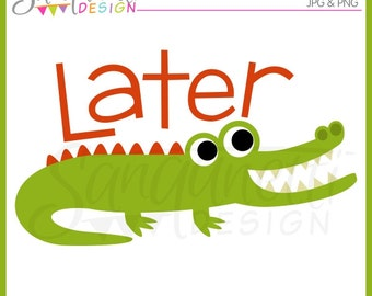 Alligator Clipart, Gator Clipart, alligator clip art, jungle clipart, jungle clip art, Instant download