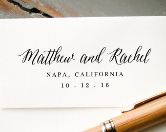 Self Inking Personalized Stamp, Custom Rubber Stamp, Custom Wedding Stamp, Custom Stamp, Save the Date Stamp, DIY Invitations