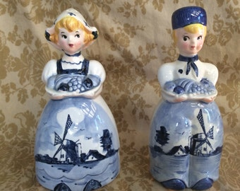 Japan ESD Dutch Girl and Boy Salt and Pepper