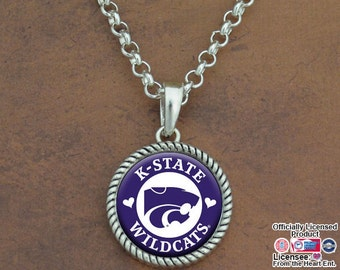Kansas State Wildcats Rolo Necklace - KSU55898