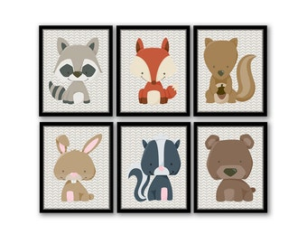 Forest Animal Art, Boy Nursery Art, Rustic Nursery Decor, Woodland Wall Art, Rustic Boy Nursery, Arrows Nursery, Instant Download Printable