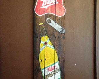 Wooden Miller high life sign