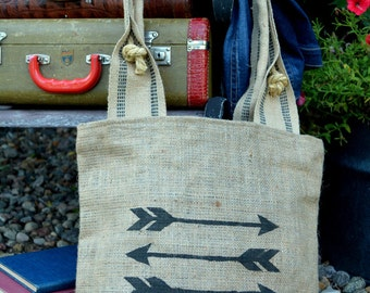 The Warrior Burlap Bag