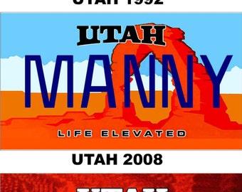 Personalized Utah Refrigerator Magnet State License Plate Replica
