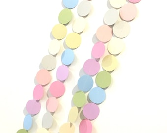 Party confetti paper garland 2mtr pastel rainbow / photo prop confetti garland string / party decorations / baby shower decor