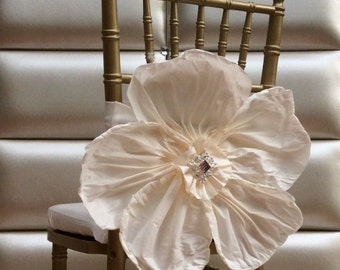 Large flower chair sash. Free shipping.