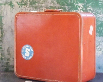 Leather Luggage / Vintage Travel to Italy / Amazon Luggage Co