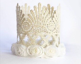 GODDESS CROWN, lace crown, tall crown, tall lace crown, flower crown, princess crown, birthday crown, birthday princess