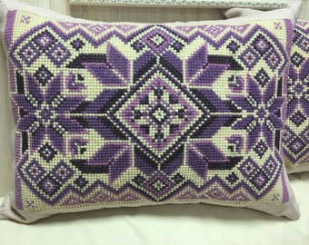 Hand-made Embroidered Pillow Cover  STARS