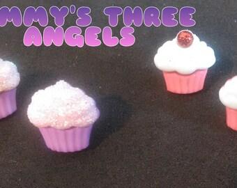 READY TO SHIP Small Cupcake Studs/ Cupcake Earrings