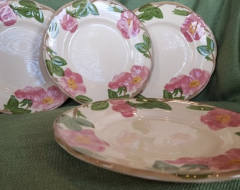 Desert Rose Salad Plates - set of 4