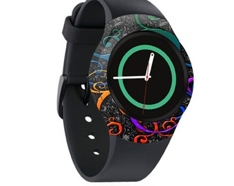 Skin Decal Wrap for Samsung Gear S2, S2 3G, Live, Neo S Smart Watch, Galaxy Gear Fit cover sticker Color Swirls