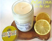 No.1 The Cottage - Italian Lemon Ice-Box Cake soy beeswax candle with essential oils, all-natural organic candle, spring scent, eco-friendly