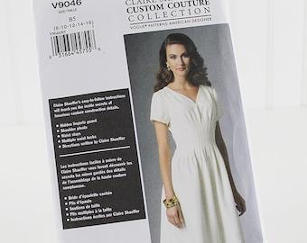 Vogue Designer Dress Pattern, Claire Shaeffer, Uncut Sewing Pattern, Vogue 9046, Size 8-16