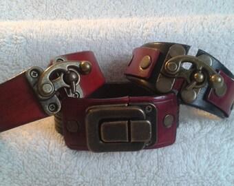 Steampunk Leather Cuffs