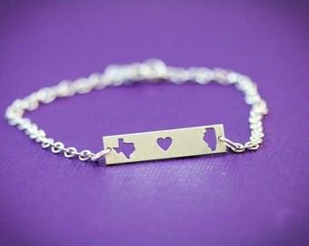 SALE • Sister Gift Bracelet Sister • Goodbye Gift Graduation Bracelet Congratulation Gift Going Away •Custom Bracelet State Best Friend Gift