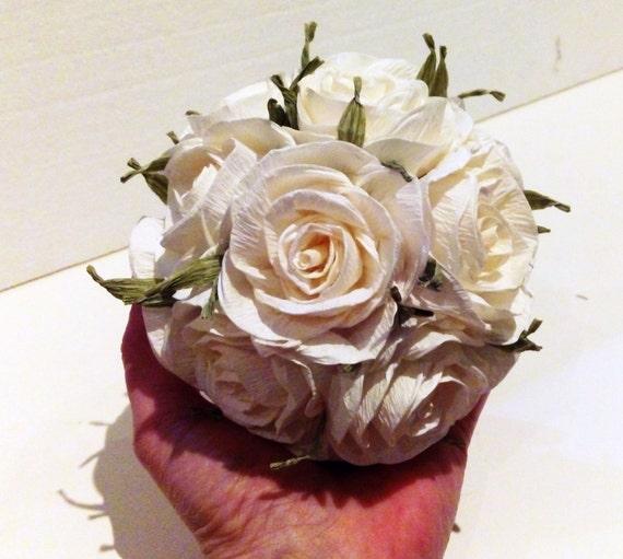 Paper Flower Balls For Wedding Paper 4 ROSE Flower Balls Wedding Pomander Kissing Balls WEDDING