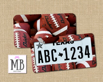 License plate, football, football gift, gift for him, guy gift, college football, license plate frame, car gift, gift for brother