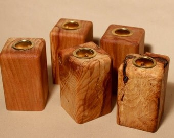 Spalted Beech Table Candle Holder - Small