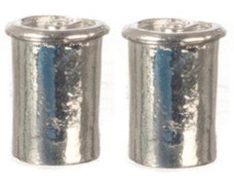 Dollhouse Miniature 1:12 Scale 4 Pc Metal Cans SET #G7167