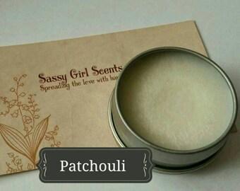 Solid perfume, vegan perfume, Patchouli  oil