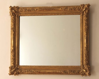 Old French mirror, Old golden frame