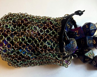 Chainmaille dice bag/ LARP coin pouch