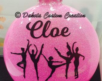 Dance Christmas Ornament - Glitter Dance Personalized Ornament - Personalized Ornament - Custom Glitter Ornament - FREE Personalization