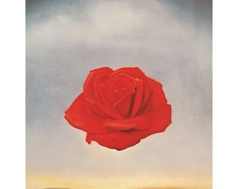 Salvadore Dali Meditative Rose 1958 print poster wall art 11 x 14