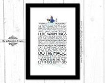 Frozen - Disney Typography Print - Quotes & Lyrics - Physical Print - A4 Unframed - A4 Framed - A3 Framed - Custom Print