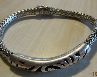 Nice Sterling Silver Chain Bracelet
