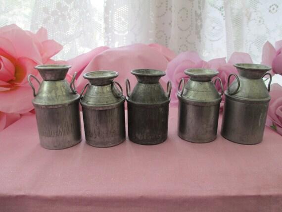 miniature milk cans