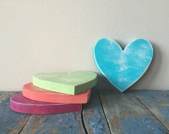 Painted And Distressed Wood Heart