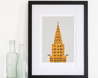 Chrysler Building Print, New York City Wall Art, NYC Print, City Wall Art, Modern Living Room Art, Housewarming Gift, BFF Gift Idea