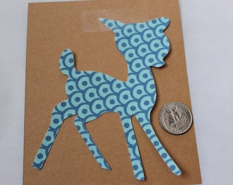 Iron On-Fabric applique-Woodland Fawn