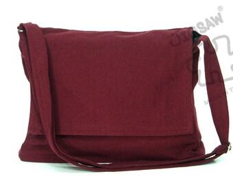 Messenger bag Burgundy color bag Crossbody bag Sling purse Shoulder Bag Tote