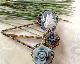 Victorian Style Fairy And Floral Hair Clips