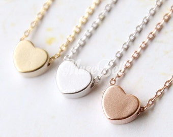 Heart necklace, Love jewelry, Simple Jewelry, Tiny love necklace, Simple heart, Rose gold necklace, Heart jewelry, Dainty delicate necklace
