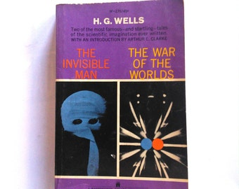 Double Book HG Wells Vintage Book