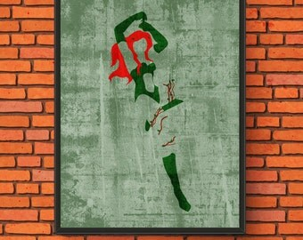 Minimalism Art - Poison Ivy Print