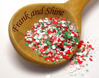 Christmas Matte Solvent Resistant Nail Glitter Mix