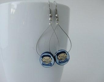 Hey Sailor! / polymer clay earrings / handmade earrings / gift for her / girlfriend gift