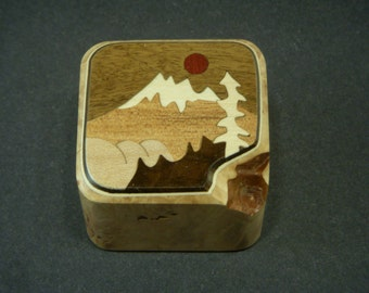 Paper weight office Paperweight Wood Inlay Handmade in USA 3