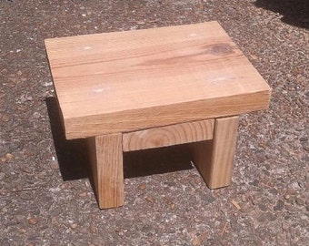 Reclaimed Wood Square Stool