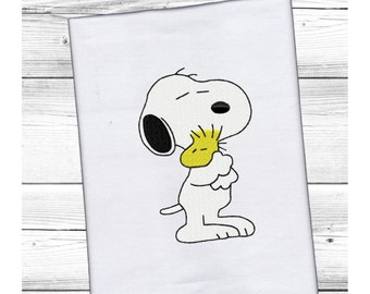 Snoopy & Woodstock...Pattern Fill Machine Embroidery DESIGN NO. 110