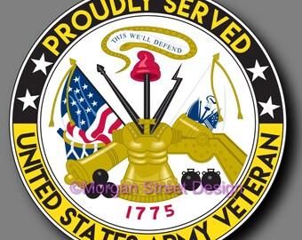 US Army Veteran Die Cut Vinyl Decal Sticker