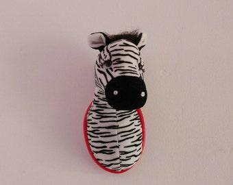 Zebra Animal Head Wall Decoration (Soft Toy)