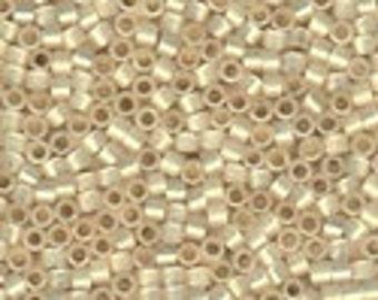 MIYUKI #11 Delica 1451 - Silver Lined Pale Cream Opal - 5 grams
