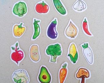 Veggie/ vegetable/ vegan stickers
